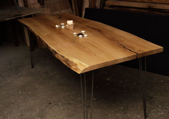 DINING TABLE Large Acacia Dining Table by Hardmandasein on Etsy