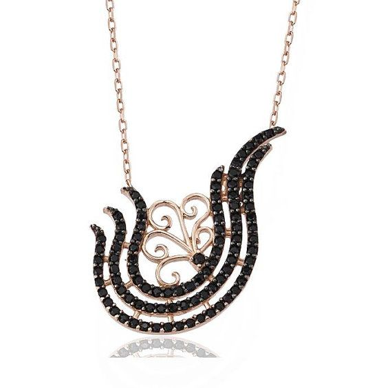 925 Sterling Silver  2014 Collection  Black by JeweeDiamond, $37.99