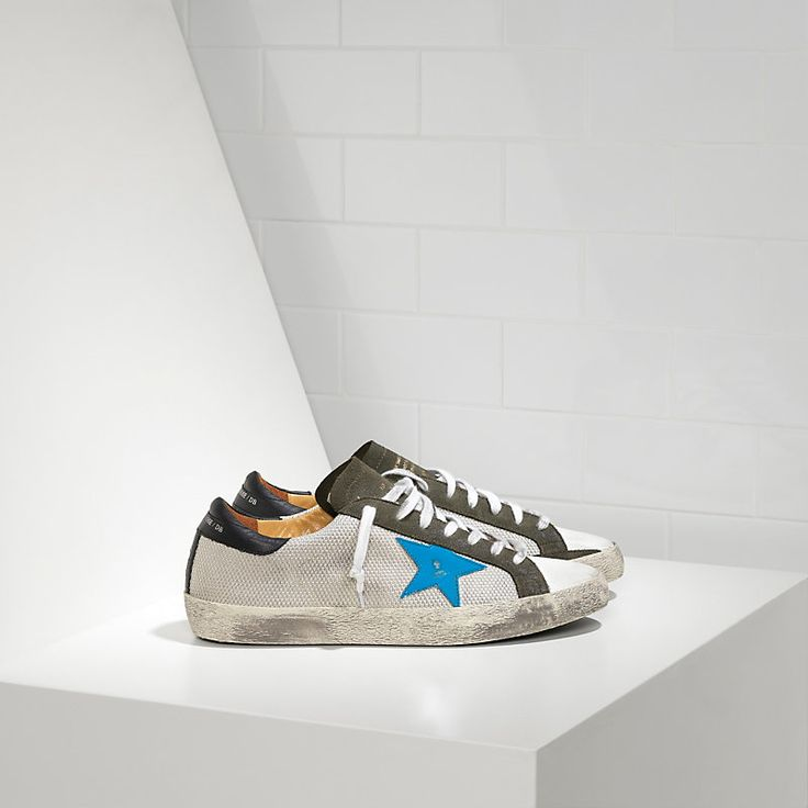 SUPER STAR sneakers in bonded fabric with leather star - Man