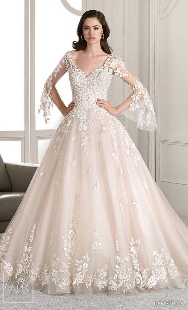 Demetrios Wedding Dress Collection 2019 Part 2 With Images Wedding Dresses Lace Demetrios Wedding Dress Ball Gown Wedding Dress
