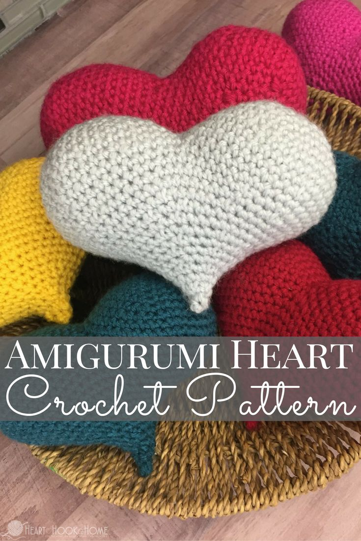 Happy Valentine's Day! I have created a new crochet pattern featuring, you guessed it, a gorgeous (and kinda sexy) amigurumi LOVE heart! ♥