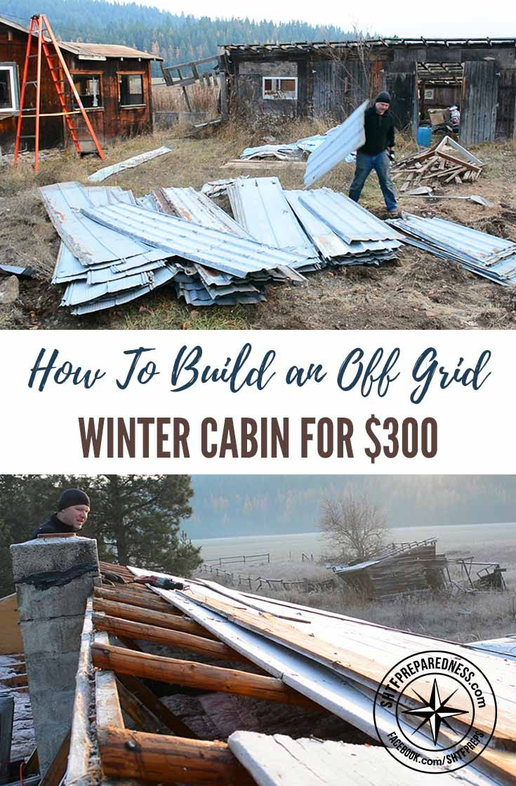 How To Build an Off Grid Winter Cabin for $300 - For those of us who are in love with the idea of homesteading, it's great to learn from someone who's starting from scratch. Pure Living for Life follows a couple's journey from city living to homesteading while being frugal. It helps to see a realistic approach to such a huge lifestyle change, instead of massive, expensive projects. Images by purelivingforlife.com