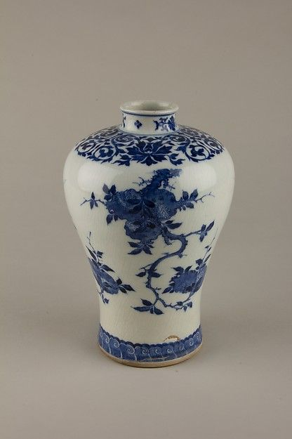 Hand Painted Blue And White Chinese Biscuit Barrel