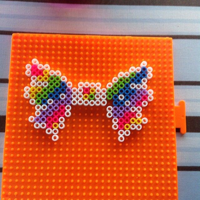 Rainbow bow perler beads by Sierra