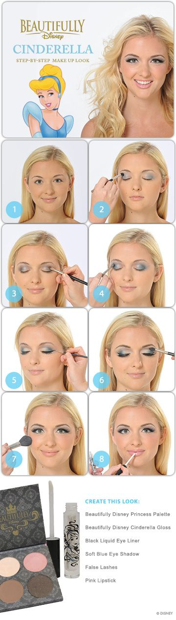 Cinderella Makeup Tutorial because every girl wants to be a princess!!  Why does she look so familiar!?!? ;)
