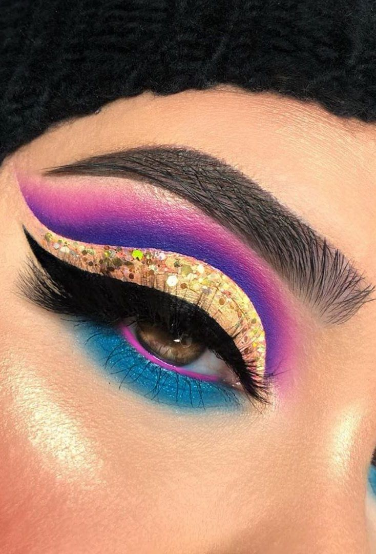 25 Fun Colorful Eyeshadow Ideas For Makeup Lovers 2019 Colorful