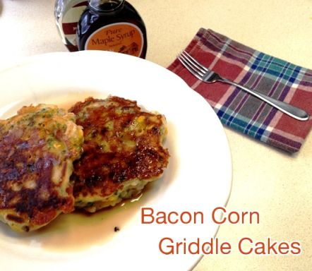 Bacon Corn Griddle Cakes from thistleandmaize | Pancakes, Griddle ...