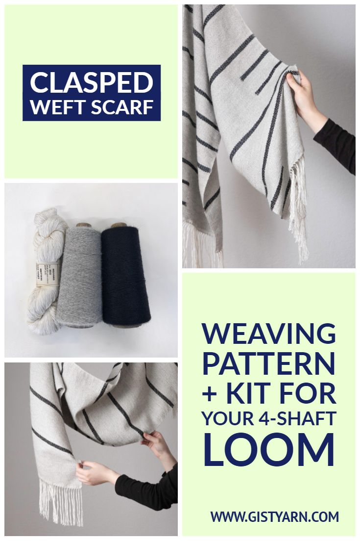 Weave an Alpaca and Silk Clasped Weft Scarf