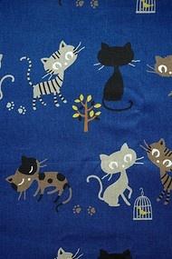 JAPANSE stof (linnen/katoen) katten