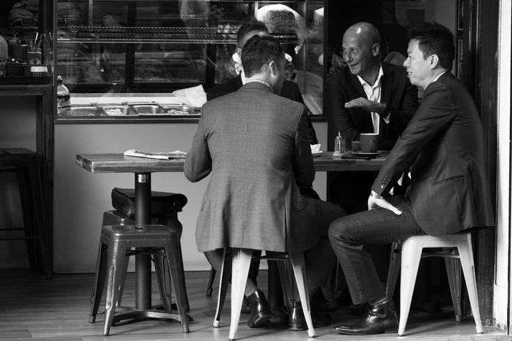 I like this shot, the framing of the subjects slightly to the left adds depth to the image. I also feel that these men having coffee is a perfect example of the culture of Melbourne that is so visible in this location.