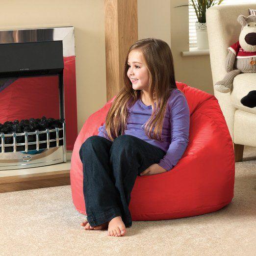 Comfort Co Bazaar Pouf poire 100 % hydrophobe Intérieur/extérieur Pour enfants Rouge Grand modèle: Amazon.fr: Jardin
