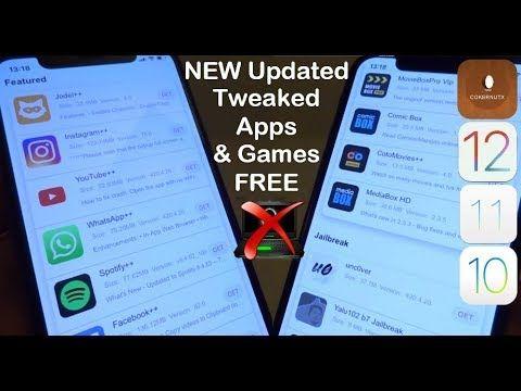NEW UPDATE Install Tweaked Apps & Games FREE iOS 12 - 12 2 / 11 NO