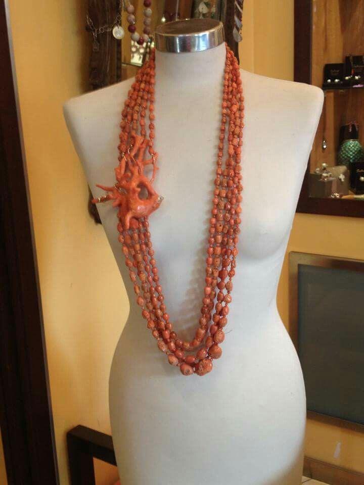 Collana di corallo di sciacca , Coral Necklace
