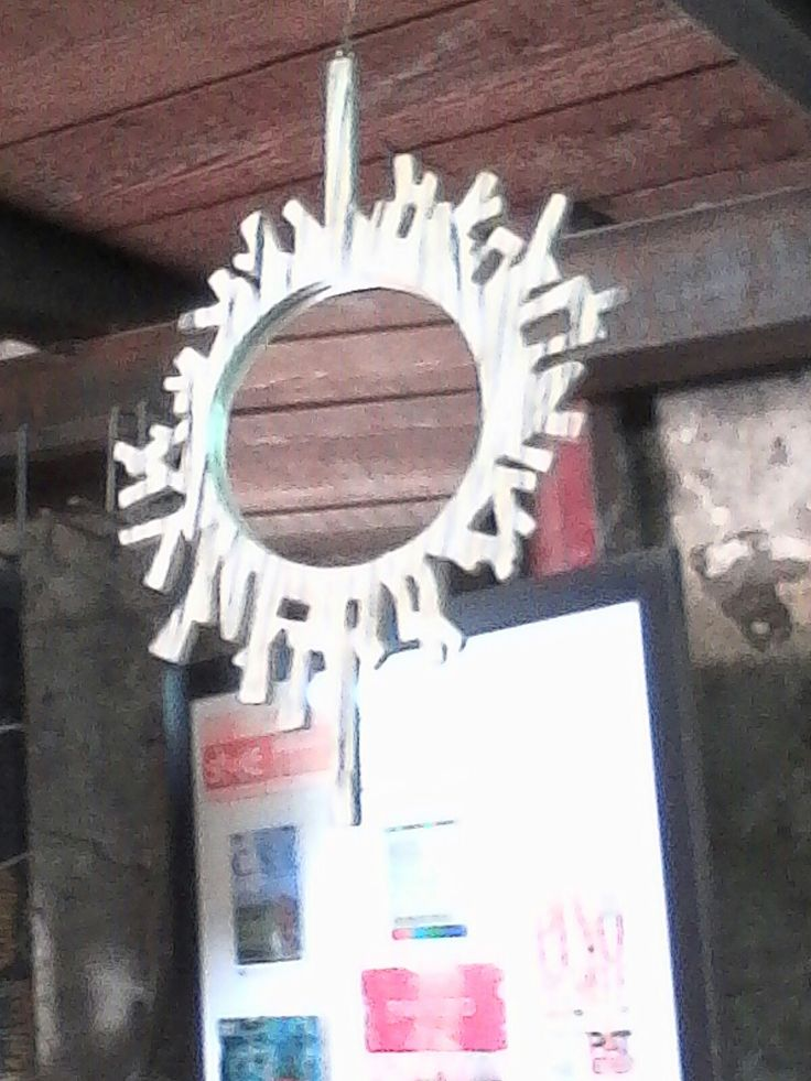 Pietro cottone. specchio artigianale in legno.