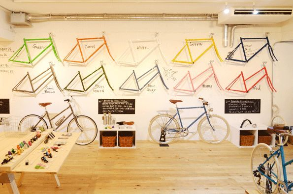 tokyobike hipshop in Tokyo.   #hipshops #hip #concept #shop #store #retail #space #design #tokyo #bike #transportation