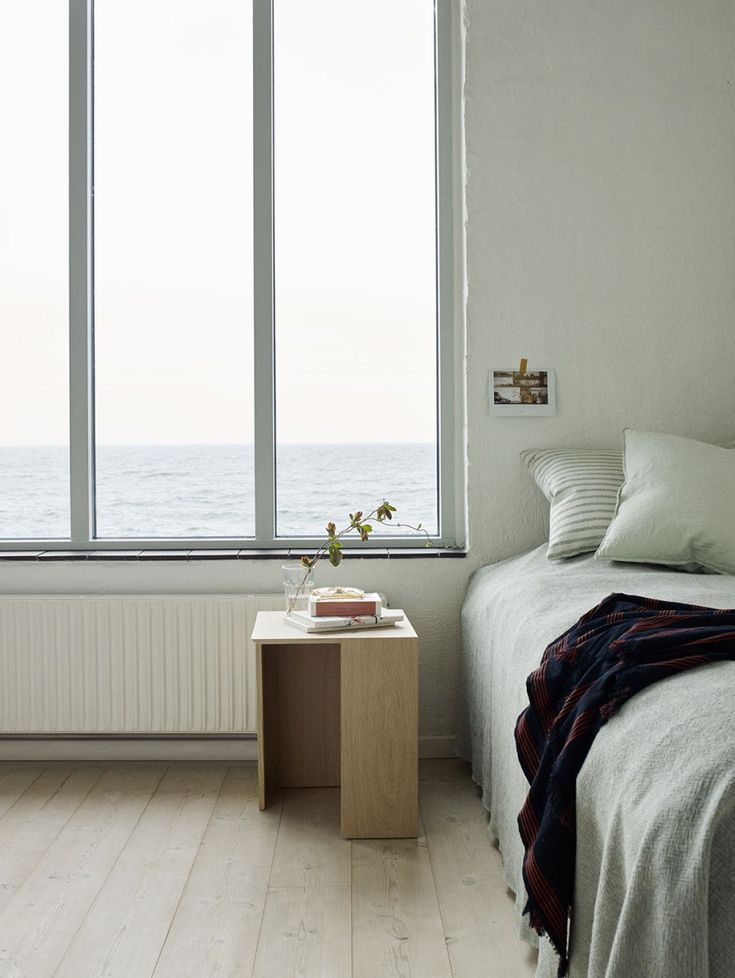 20 of the best minimal bedside tables. New side tables from Skagerak - Danish design - Building Table 40x40, Oak 02