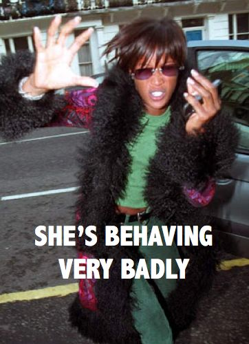 Absolutely Fabulous Ab Fab meme Naomi Campbell she's behaving very badly