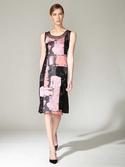 Silk Tapestry Burnout Dress by Narciso Rodriguez on Gilt