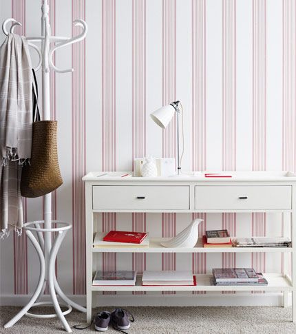 ticking stripe wallpaper - moore + moore