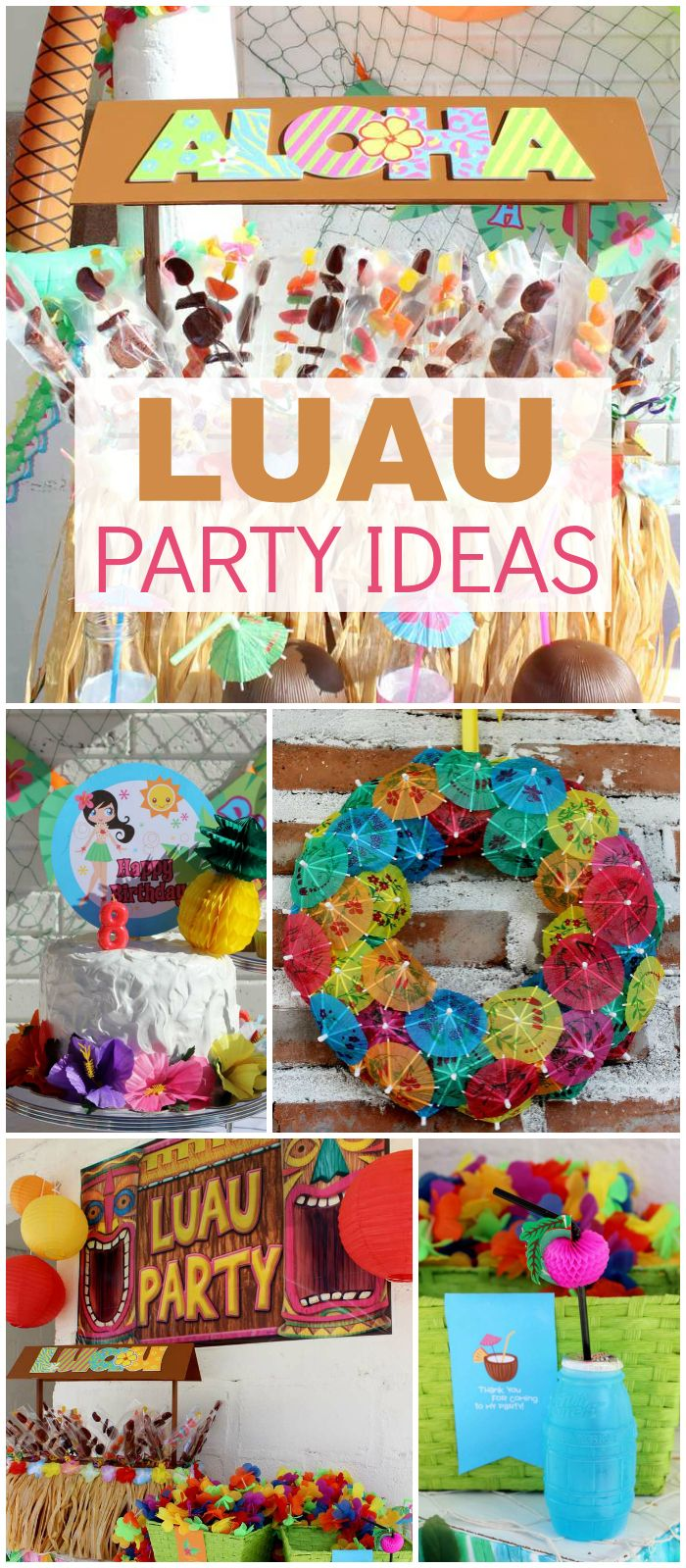 Here's a gorgeous luau party perfect for summertime! See more party ideas at