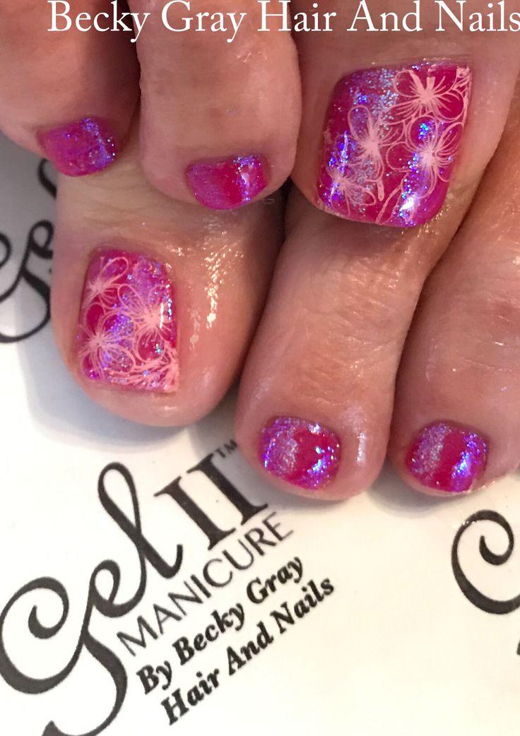 #gelii #manicure #floral flirtation #magpieglitter #magpieheather #gel_two #pedicure #showscratch #scratchmagazine