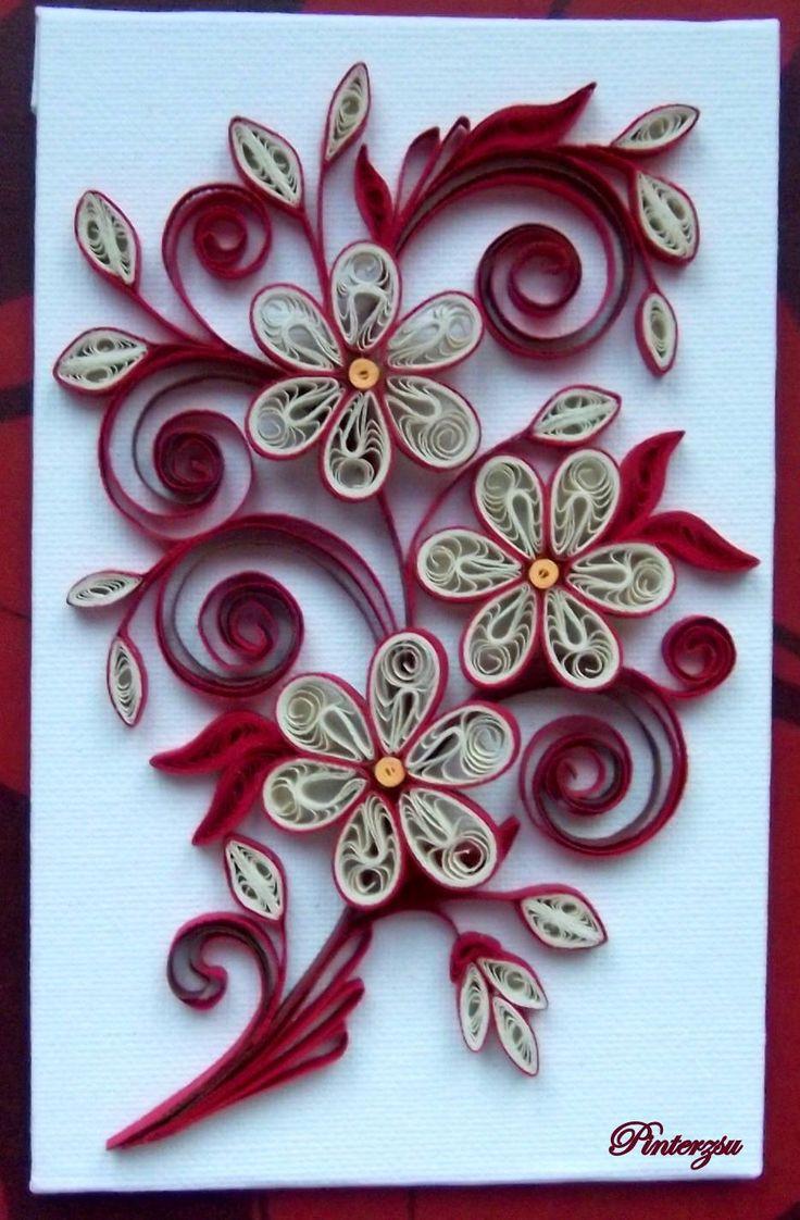 quilled flowers quilling pinterest filigrana papel y filigranas de papel. Black Bedroom Furniture Sets. Home Design Ideas