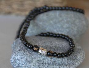 collier bouddhiste perles de bois (Pendentifs au choix) : Bijoux pour hommes par made-with-love-in-aiacciu