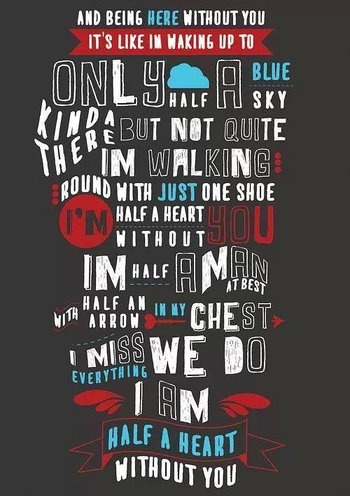 """Half a Heart"" - One Direction | Lyrics | Pinterest | One ..."