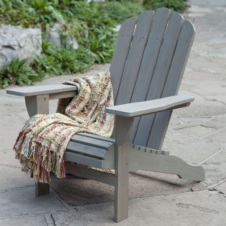 This Weather Resistant Eco Friendly Eucalyptus Wood Adirondack Chair In  Driftwood Color Is One Piece Of Patio Furniture With Pizzazz.