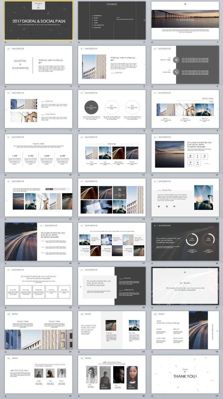 27+ White Social Plan Slides PowerPoint templates