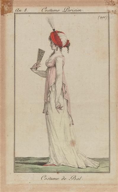 Ballgown, 1799 (An 8) France, Journal des Dames et des Modes