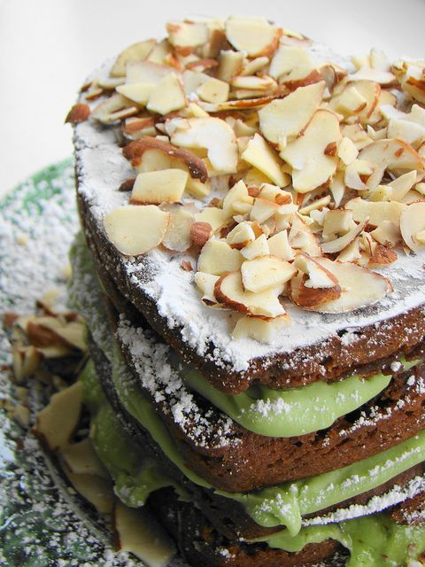 Mocha Almond Fudge Avocado Cake - Vegan