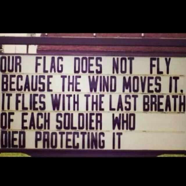 Our flag does not fly .......