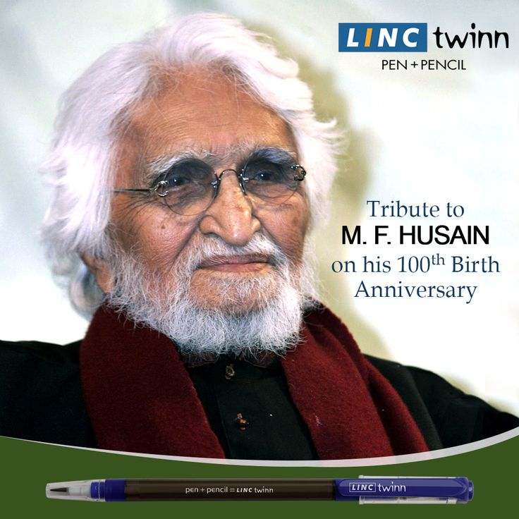 M.F. Husain has brought revolution through his brush in the Indian contemporary art. We salute his outstanding contribution on his 100th birth anniversary. #Tribute #BirthAnniversary #LincPens #LincTwinn