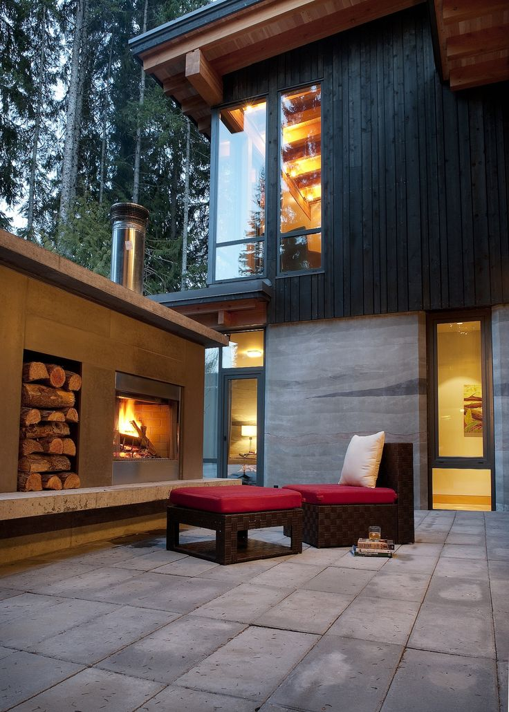 Exterior Fireplace - warmth isn't far off on those cool nights and evenings around this cozy fire.