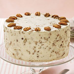 Italian Cream Cake | This cake will surely win rave reviews in your home with its sweet coconut flavors and Nutty Cream Cheese Frosting.