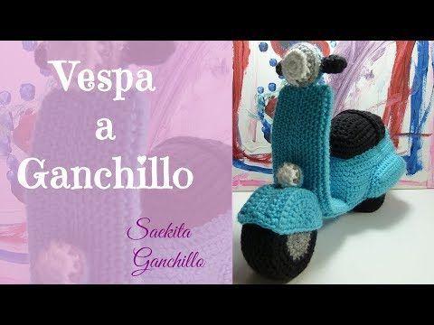 Cómo hacer una Vespa a Ganchillo * Parte 1: Chasis * Saekita Ganchillo - YouTube