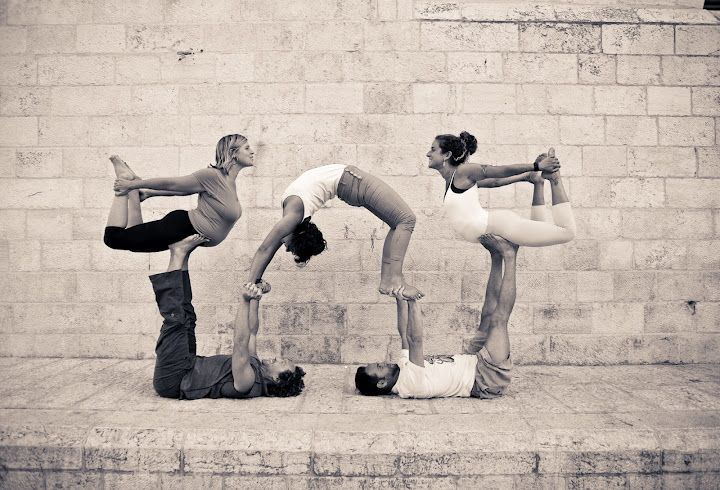 Acro yoga, i was the one in the middle :)