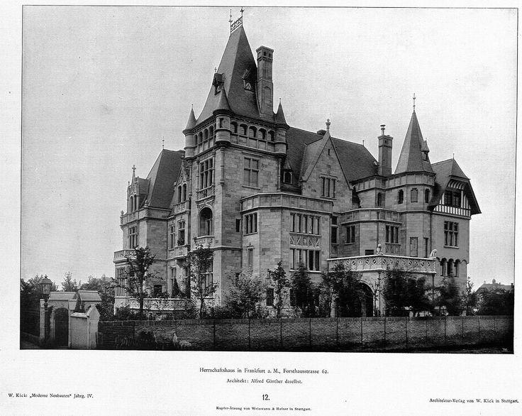 Villa Kennedy – Haus in Frankfurt a. M. Forsthausstrasse 62 Architekt Alfred Günther Frankfurt