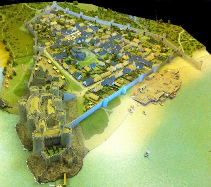Conwy town and castle reconstruction - 1287