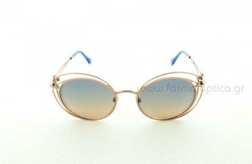 Γυαλί ηλίου ROBERTO CAVALLI 01030 34X, Γυναικείο Butterfly, σε Ροζ-Χρυσο χρώμα με Δίχρωμος μόνο 312,00€