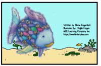 """Alphabet Sight Word Reader  Rainbow Fish - """"Rr and Ff"""" Focus Letter"""