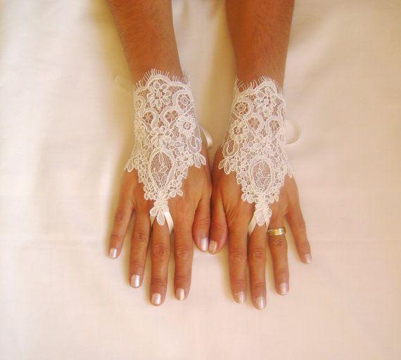 guanti di pizzo guanti da sposa avorio avorio guanto senza