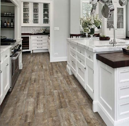 #Design a #rustic #wood look w/ #Farmhouse HD #porcelain #plank #tiles:  Available in Café, Oxide & Winterwood at # MidAmericaTile . | # woodlook … - Design A #rustic #wood Look W/ #Farmhouse HD #porcelain #plank