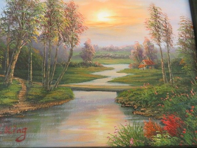 J King Signed Oil Painting Of Nature Scene Nature Scenes Nature Paintings Painting