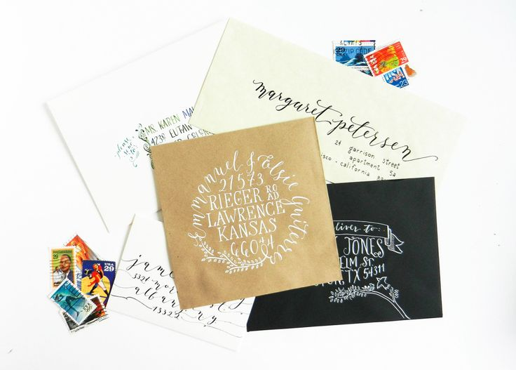 5 Unique Ways to Address an Envelope | The Postman's Knock :: For beginners + intermediate + expert. Something for everyone!