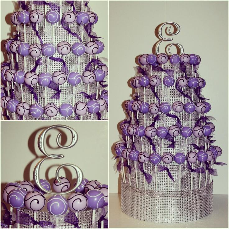 Shades of purple cake pops