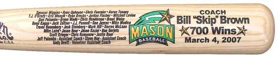Mini bats engraved with team logo and 2 lines for only $10. Great coach gift idea!