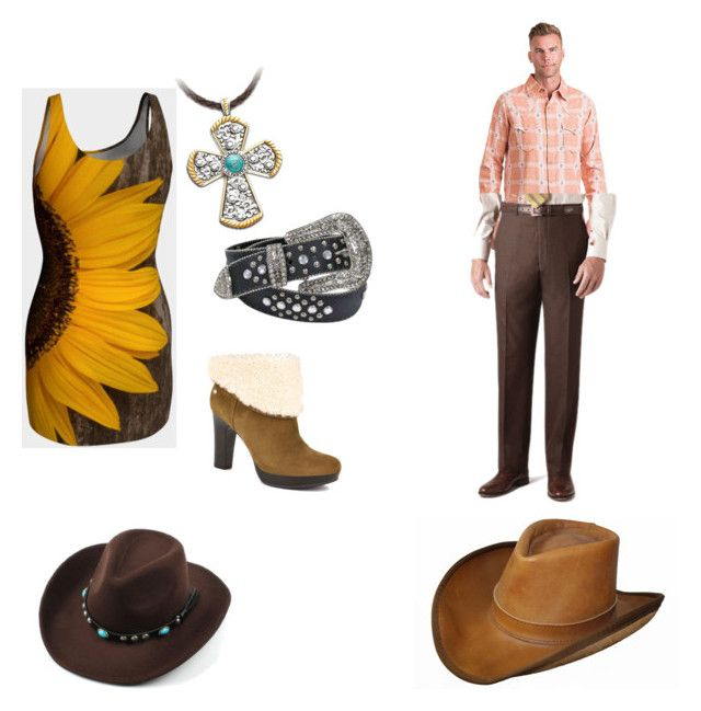 """country date night"" by wilkins-m-skylar on Polyvore featuring UGG, The Bradford Exchange, Ryan Michael, Brooks Brothers and country"