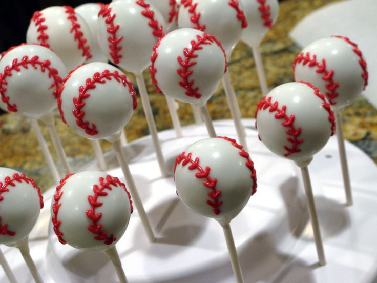 baseball cake pops | Cake Ball Gallery | Cake Balls, Cake Pops & Cupcakes in Frisco, Texas ...